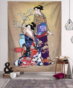 Asiatischer Wandteppich