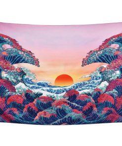 Wandbehang Japanische Welle